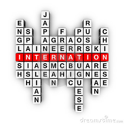 Free Languages Crossword Royalty Free Stock Image - 13152896