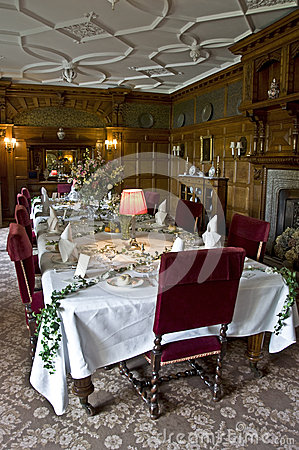 Lanhydrock House Dinning Room