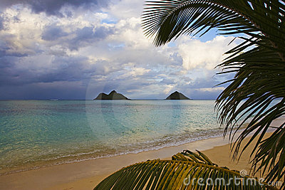 Lanikai beach in the late afternoon