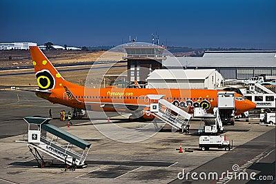 Lanseria Airport - SAA - Mango - Boeing 737-8BG Editorial Image