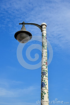 Lantern with blue sky