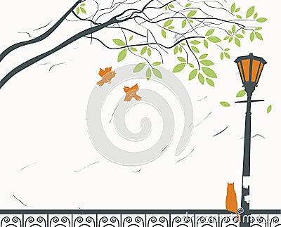 Lantern and cat