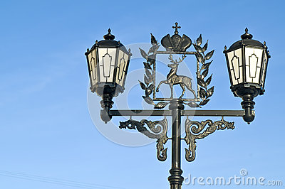 Lantern and coat of arms of city Nizhniy Novgorod