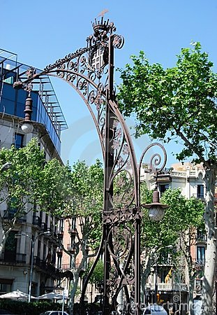 Lantern of Gracia street