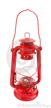 Lantern kerosene vintage red