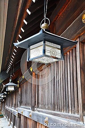 Lantern at Maruyama Shrine