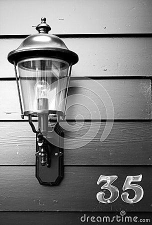 Lantern at number 35
