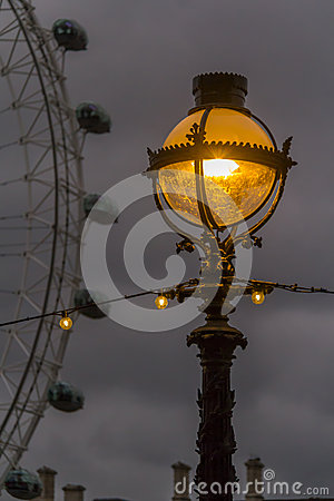 Free Lantern On The Street In London Royalty Free Stock Images - 48793819