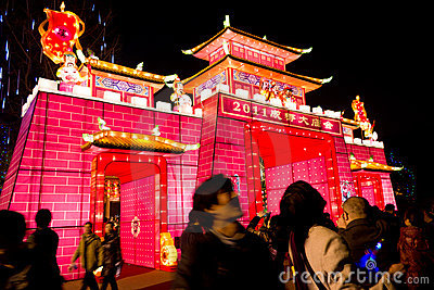 lantern show Editorial Stock Photo