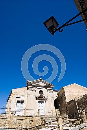 Lantern and small church