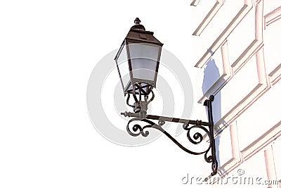 Lantern on a wall