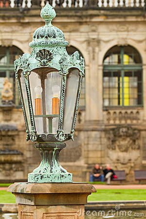 Lantern in Zwinger Palace .  Dresden, Germany