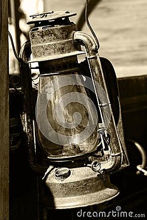 Lanterna dell annata nella seppia