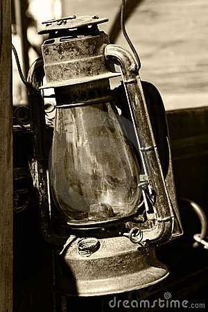 Lanterna do vintage no Sepia