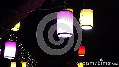 lanterna e notte archivi video