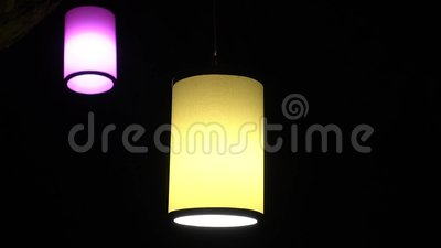 lanterna e notte stock footage