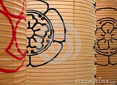 Lanternas de papel japonesas