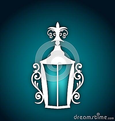 Lanterne de pièce forgéee pour Ramadan Kareem