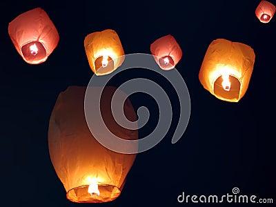 Lanternes de ciel