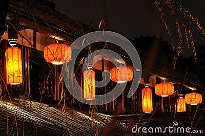 Lanterns on the second floor