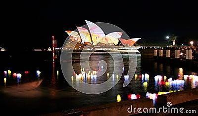 Lanterns and Sydney Opera House Editorial Image