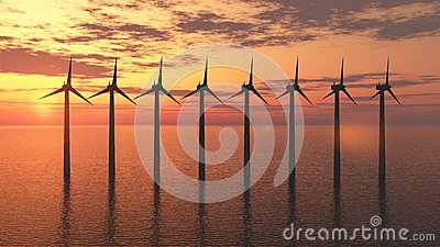 Lantgård för Windturbin