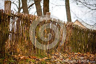 Vide- Lantligt Staket Arkivfoto - Bild: 66989237