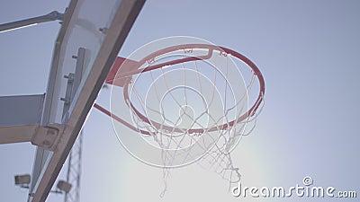 Lanzamiento del banco del baloncesto metrajes