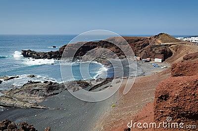 Lanzarote bay landscape