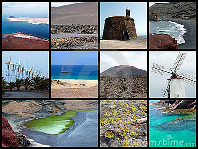 Lanzarote collage - postcard