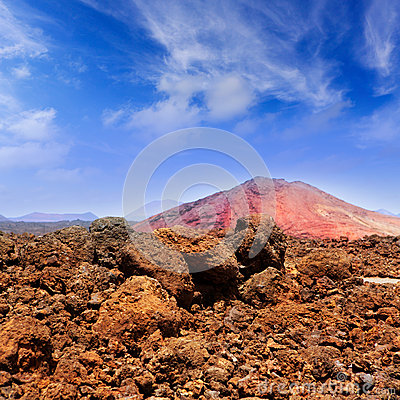 Lanzarote Montana Bermeja red mountain