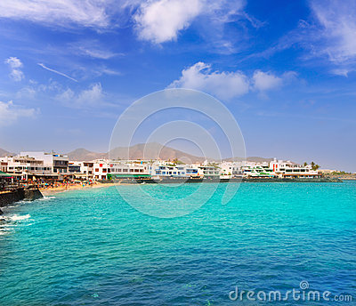 Lanzarote Playa Blanca beach in Atlantic