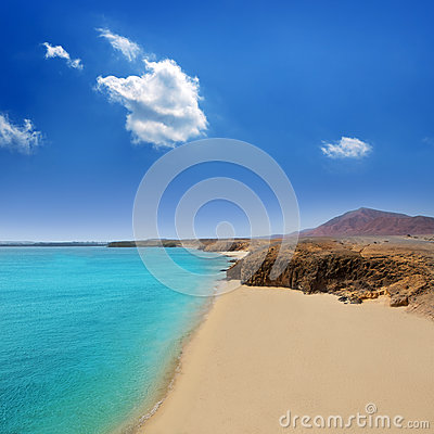 Lanzarote Playa del Pozo beach costa Papagayo