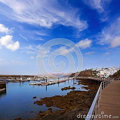 Lanzarote Puerto del Carmen port in Canaries
