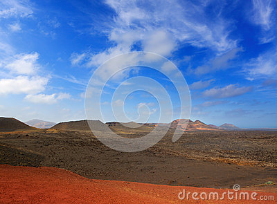 Lanzarote Timanfaya Fire Mountains volcanic lava