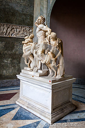 Laocoon And His Two Sons Vatican City Royalty Free Stock