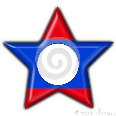 Laos button flag star shape