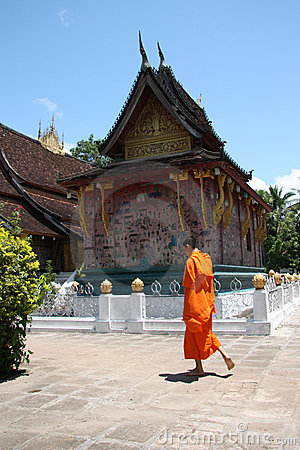 Laos Monk Editorial Photo