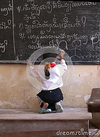 Free Laos School Girl Stock Photography - 134082