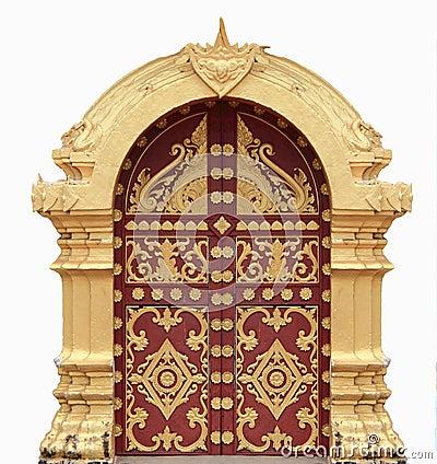 Laos temple arch.