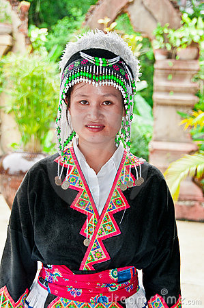 Laotian Hmong Woman Editorial Photography