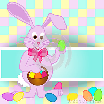 Carte de lapin de Pâques