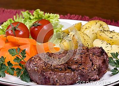 Lapje vlees 013 van het haasbiefstuk