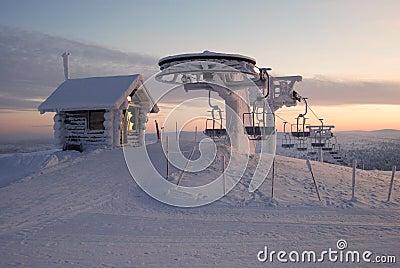 Lapland ski lift