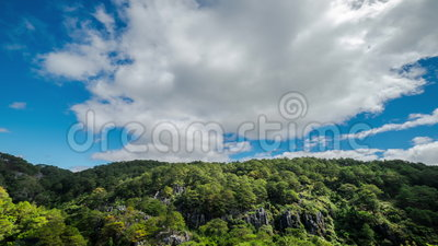 Laps de temps de ciel bleu avec les nuages mobiles philippines clips vidéos