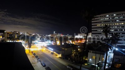 Laps de temps de Santa Monica California Night banque de vidéos