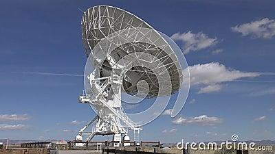 Laps de temps de radiotélescope banque de vidéos