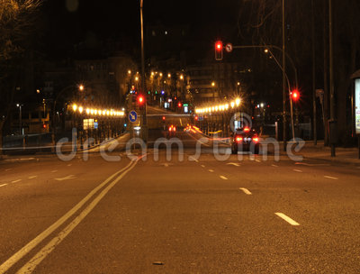 Lapso de la noche de Madrid almacen de video