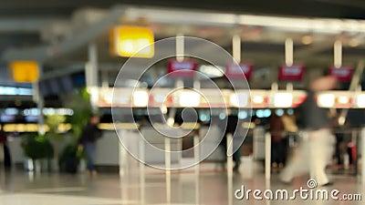 Lapso de tempo Pan Tilt Shift dos viajantes do aeroporto filme