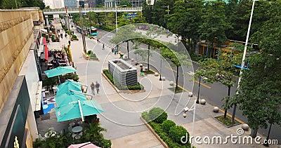 Lapso de tiempo de China de la ciudad de Shenzhen almacen de video